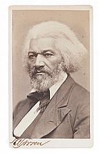 (SLAVERY AND ABOLITION.) DOUGLASS, FREDERICK. Carte-de-visite portrait.