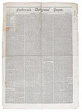 (SLAVERY AND ABOLITION.) DOUGLASS, FREDERICK. Frederick Douglass' Newspaper. Vol. VII, No. 32, Whole Number 344. July 28, 1854.