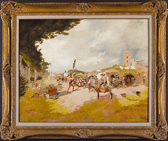 (PAINTING.) Atalaya, Enrique (1851-1914). Untitled oil on canvas,
