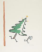 R. O. BLECHMAN. Christmas Tree Chasing an Axe.