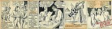 DICK CALKINS. Buck Rogers partial daily comic strip.