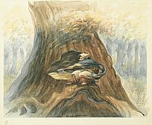PETER DE SÈVE. Finn McCoul's grandmother chops down the tree.