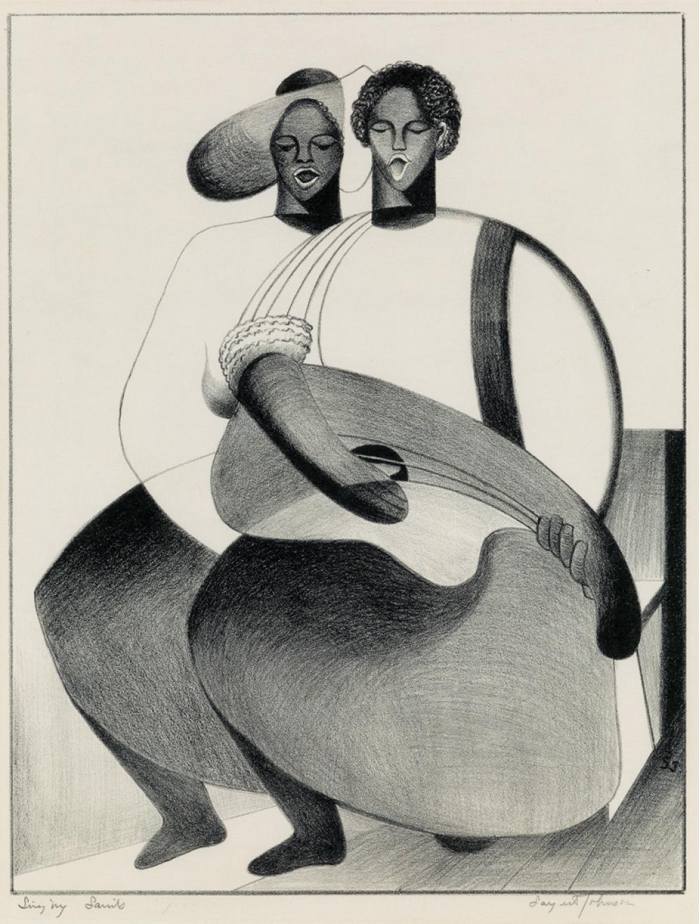 SARGENT JOHNSON (1988 - 1967) Singing Saints.