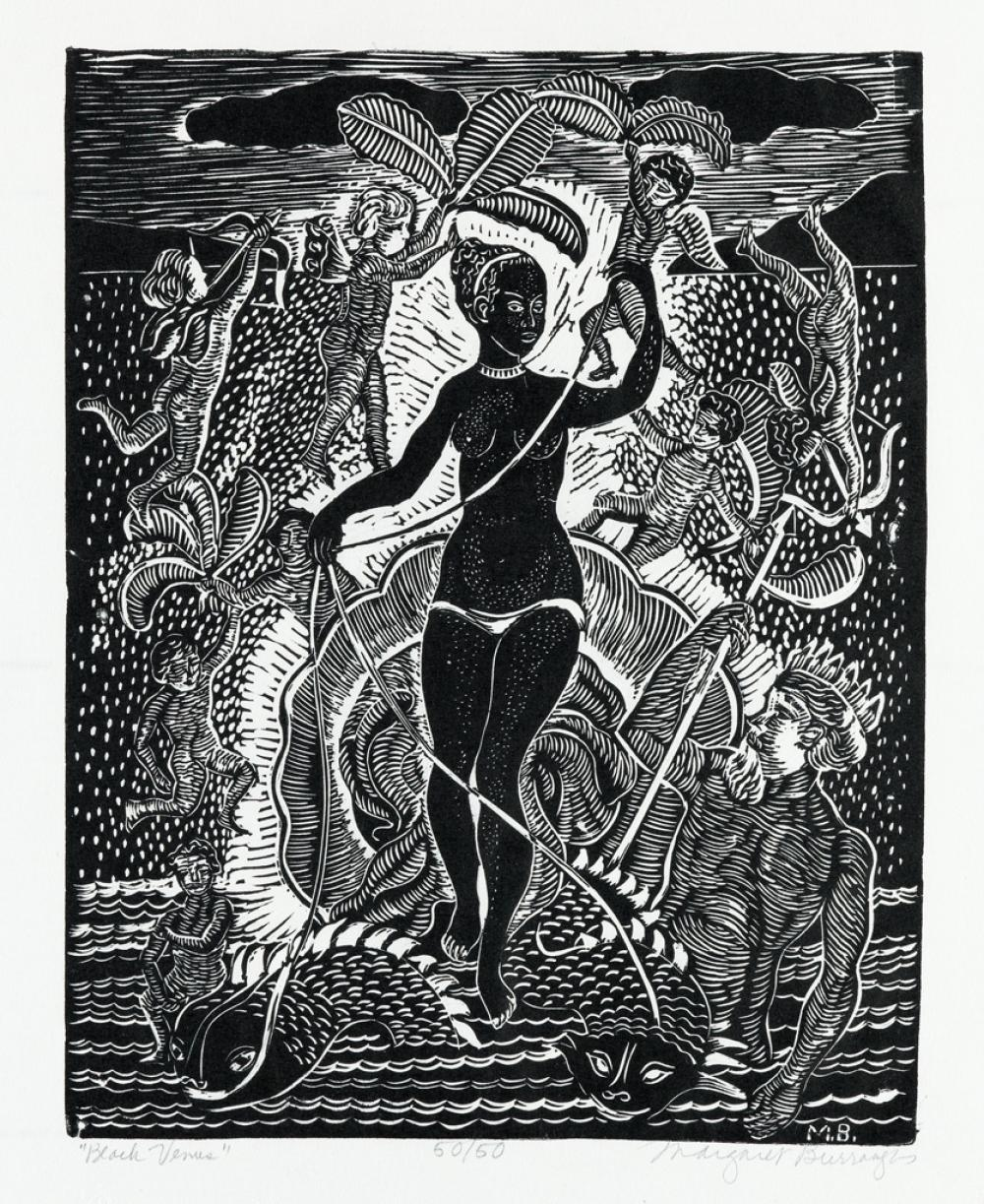 MARGARET BURROUGHS (1917 - 2010) Black Venus.