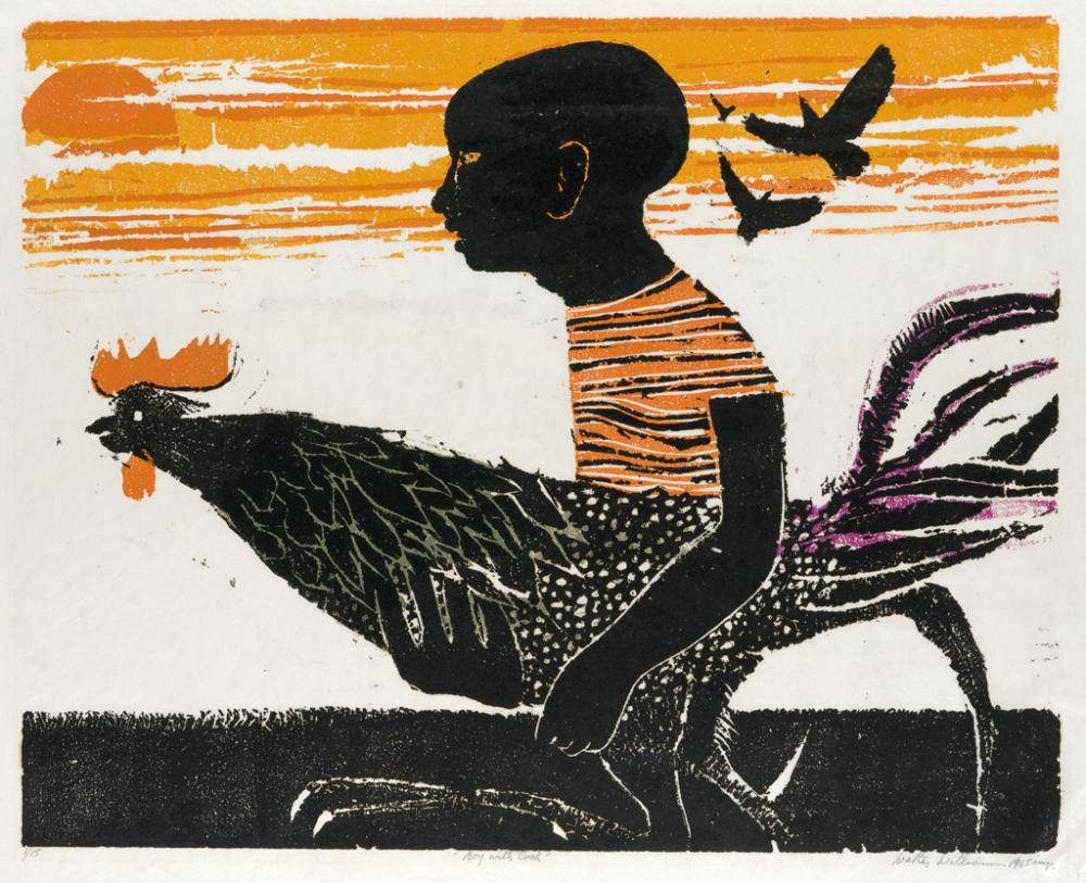 WALTER WILLIAMS (1920 - 1988) Boy with Cock.