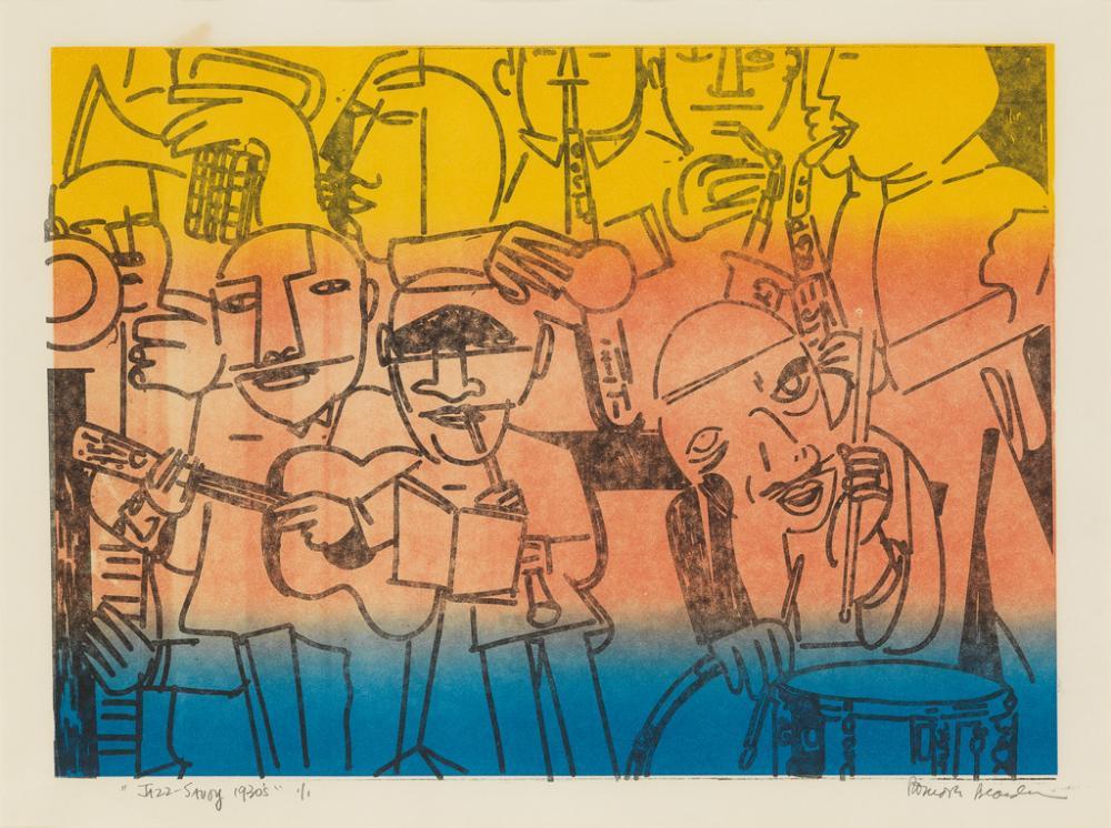 ROMARE BEARDEN (1911 - 1988) Jazz-Savoy 1930's.