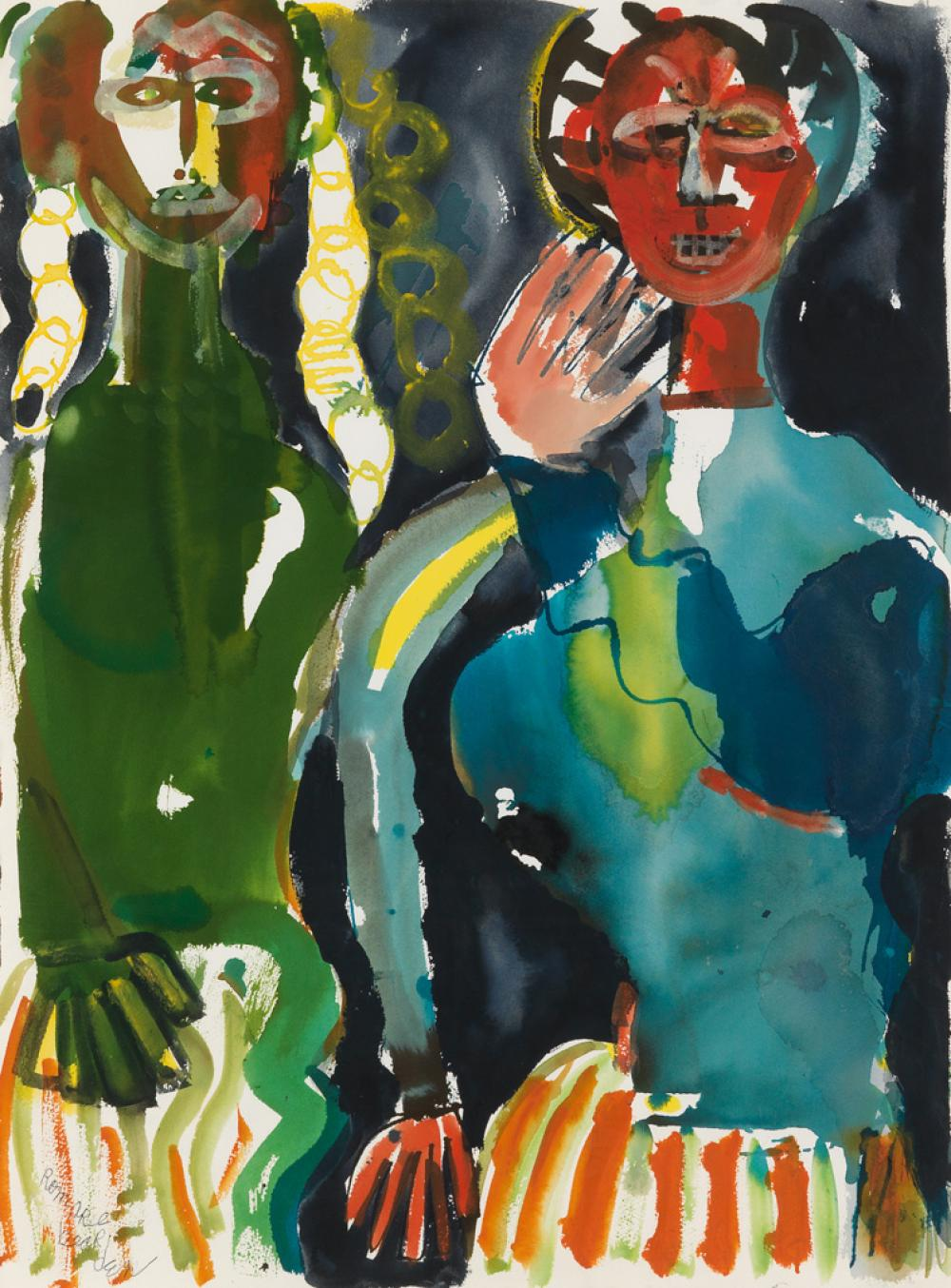 ROMARE BEARDEN (1911 - 1988) Untitled (Obeah Series).