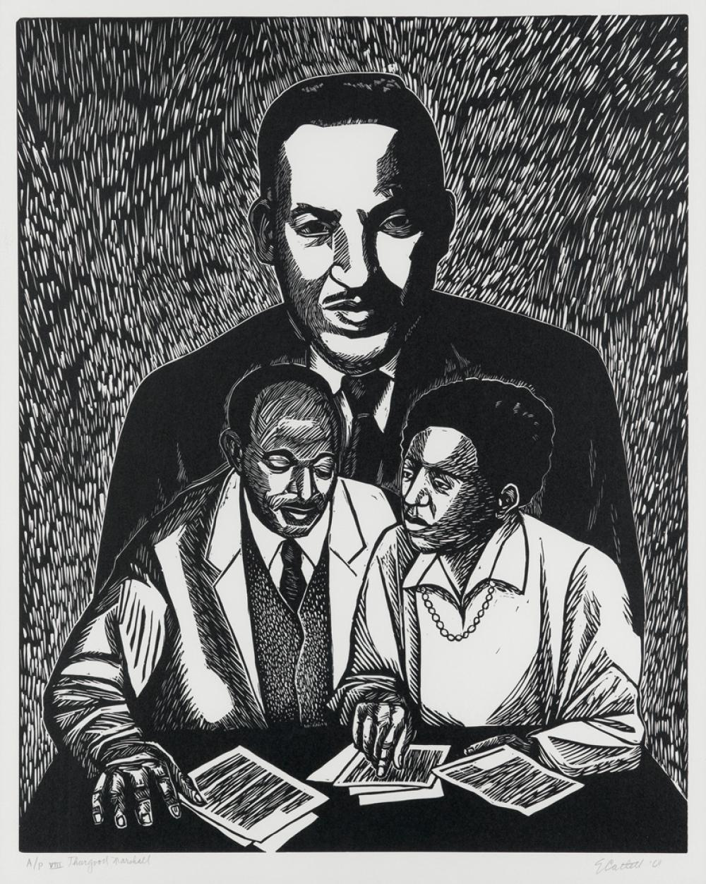 ELIZABETH CATLETT (1915 - 2012) Thurgood Marshall.