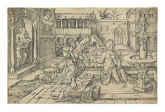 JACOB BINCK Bathsheba at the Bath.