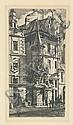 CHARLES MERYON Tourelle de la Rue de la Tixéranderie., Charles Meryon, Click for value