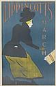 WILL CARQUEVILLE (1871-1946). LIPPINCOTT'S MARCH. 1895. 19x12 inches, 48x31 cm.