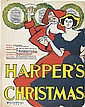 EDWARD PENFIELD (1866-1925). HARPER'S CHRISTMAS. 1895. 25x20 inches, 64x50 cm.