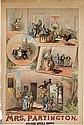 DESIGNER UNKNOWN. MRS. PARTINGTON. Circa 1880s. 42x28 inches, 107x71 cm. W.J. Morgan & Co. Lith., Cleveland.
