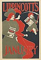 VARIOUS ARTISTS. [AMERICAN LITERARY.] Group of 9 posters. Circa 1895. Sizes vary.