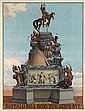 DESIGNER UNKNOWN. BUFFALO BILL BIDS YOU GOOD BYE. 1911. 54x41 inches, 137x104 cm. The U.S. Lithograph Co. Russell-Morgan Print, Cincinn