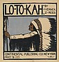MAYNARD DIXON (1875-1946). LO - TO - KAH : BY VERNER Z - REED. 1897. 15x14 inches, 39x37 cm.