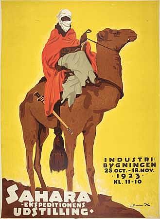POSTER: SVEN BRASCH (1886-1970). SAHARA. 1923
