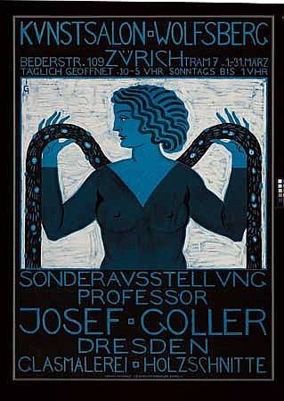 POSTER: JOSEF GOLLER (1868- ?). KUNSTSALON WO