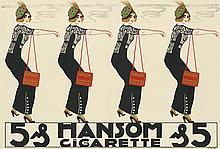 ERICH MULLER (DATES UNKNOWN). HANSOM CIGARETTE. Circa 1912. 24x35 inches, 61x90 cm.
