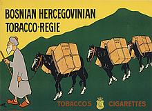 RUDOLF PICK (1865-1915). BOSNIAN HERCEGOVINIAN / TOBACCO - REGIE. Circa 1900. 18x24 inches, 46x63 cm. Society for Graphic Industrie, Vi