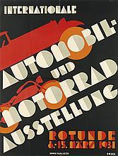 HERMANN KOSEL (1896-1983). INTERNATIONALE AUTOMOBIL - UND MOTORRAD AUSSTELLUNG. 1931. 48x36 inches, 122x91 cm. Paul Gerin, [Vienna.]