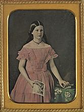 (CASED IMAGES) Group of 23 assorted ambrotype (14) and tintype (9) scenes and portraits,