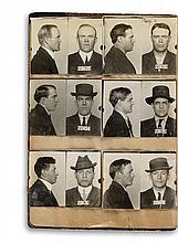 (CALIFORNIA CRIME) Album containing 48 mug shots of alleged criminals of interest to the San Francisco