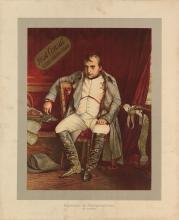 D'APRÈS PAUL DELAROCHE (1797-1856). NAPOLEON AT FONTAINEBLEAU / FIRST CONSUL / CLEAR HAVANA CIGAR. Circa 1900. 22x18 inches, 56x45 cm.
