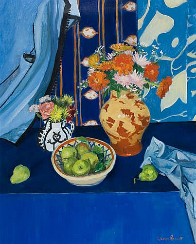 WARREN BRANDT Blue Still Life No. 2.