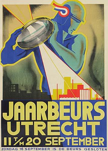 HENRI PIECK (1895-1972) JAARBEURS UTRECHT. 1934. 39x28 inches.