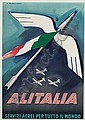 MARCELLO DUDOVICH (1878-1962) ALITALIA. Circa 1948. 39x27 inches. Arte Grafiche, Milan., Marcello Dudovich, Click for value