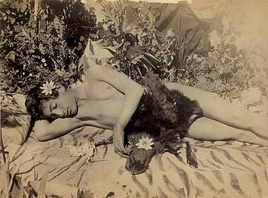 VON GLOEDEN, WILHELM (1856-1931) & PLUSCHOW, GUGLIELMO (1852-1930) Fine group of 11 photographs of young boys.