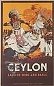 C.K.L. SAMARASINHA (1919-2003). CEYLON. Circa 1935. 40x25 inches, 101x63 cm. Waterlow & Sons Ltd., London.