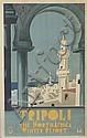 DESIGNER UNKNOWN. TRIPOLI. Circa 1930. 39x24 inches, 100x61 cm. Sten, Turin.