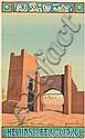 MAURICE GUIRAUD - RIVIÈRE (1881-1967). CHEMINS DE FER DU MAROC. 1933. 40x25 inches, 101x63 cm. H. Chachoin, Paris.