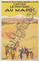 CHARLES - EDOUARD DERCHE (DATES UNKNOWN). AU MAROC. 1929. 39x24 inches, 99x61 cm.