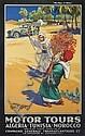 E. V. KEALEY (DATES UNKNOWN). MOTOR TOURS / ALGERIA - TUNISIA - MOROCCO. Circa 1925. 39x25 inches, 101x63 cm. Hill Siffken & Co., Londo