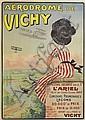 ROGER JOURDAIN (DATES UNKNOWN). AÉRODROME DE VICHY. 1909. 42x29 inches, 108x76 cm. Wall, Paris