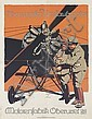 LUDWIG HOHLWEIN (1874-1949). OBERURSELER UMLAUFMOTOR / MOTORENFABRIK OBERURSEL. Circa 1915. 35x27 inches, 89x70 cm. Kornsand & Co., Fra