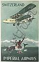 SIGNATURE ILLEGIBLE. SWITZERLAND / IMPERIAL AIRWAYS. 1935. 39x25 inches, 101x63 cm. Haycock Press, London.