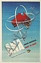 RONALD CLAYTON SKATE (1913-1990). ANA / COVERS AUSTRALIA / COAST TO COAST. Circa 1955. 38x24 inches, 98x63 cm.