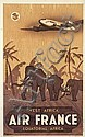 VINCENT GUERRA (DATES UNKNOWN). AIR FRANCE / WEST AFRICA. 1946. 39x24 inches, 99x61 cm. Alepee, Paris.