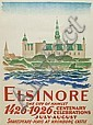 VALDEMAR ANDERSEN (1875-1928). ELSINORE. 1926. 33x24 inches, 83x62 cm. Cato, Copenhagen., Valdemar Andersen, Click for value