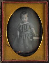 (EARLY DAGUERREOTYPES) Group of 40 beautifully-lit daguerreian portraits.