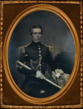 (AMERICAN MILITARY) Half-plate daguerreotype of Roland G. Usher (1823-1895).