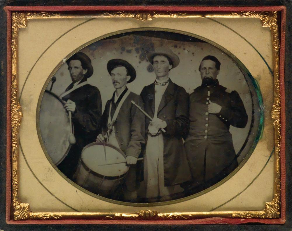(CIVIL WAR) Group of 26 ambrotypes of officers and soldiers.