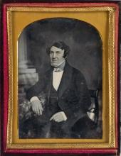 (AMERICAN AND EUROPEAN PORTRAITURE) Group of 28 daguerreotypes, including images credited to Kilburn (3), Mayall, Root, Skolfield, and