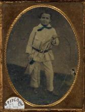 (AMBROTYPES) Large group of 67 miscellaneous hard images, including portraits of kids with toys, views of Niagara Falls, a copy of a pa