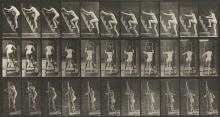 EADWEARD MUYBRIDGE (1830-1904) Woman climbing stairs and a ladder, plate 110 from Animal Locomotion.