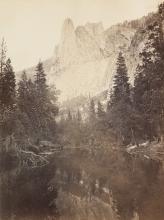 CARLETON WATKINS (1829-1916) Sentinel Rock, View Up Yosemite Valley.